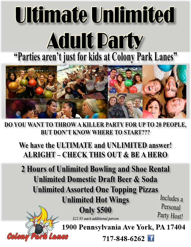 Ultimate Unlimited Adult Party North revised 8-1-2017
